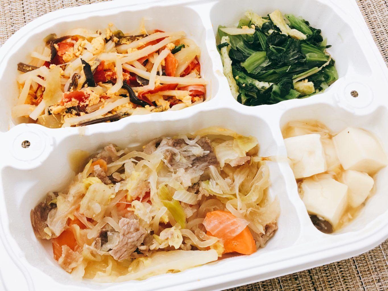 つるかめキッチンの冷凍宅配弁当-すき焼き