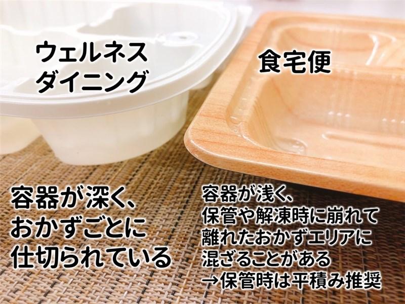 食宅便VSウェルネス容器の厚さ