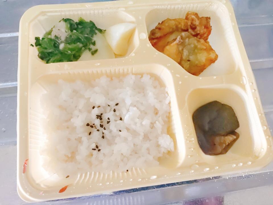 鱈のフリッター弁当