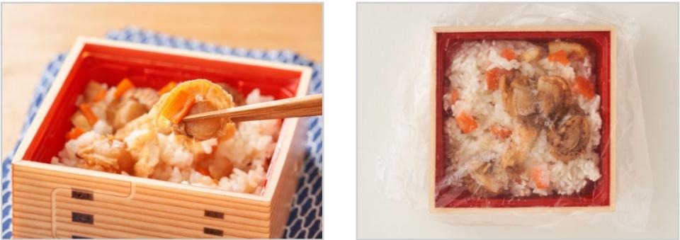レンジでできる青森県産帆立貝の炊き込みご飯1