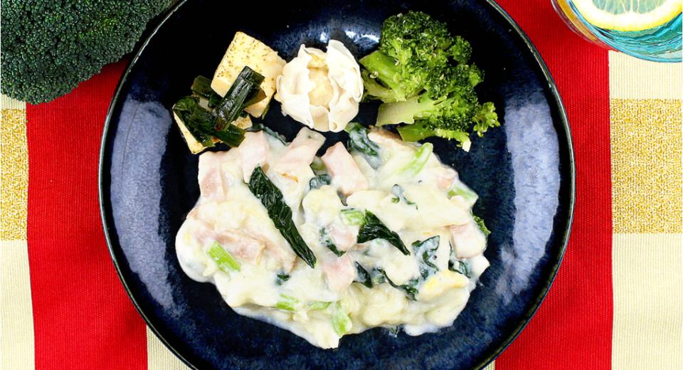 コク旨ベーコンと白菜のクリーム煮
