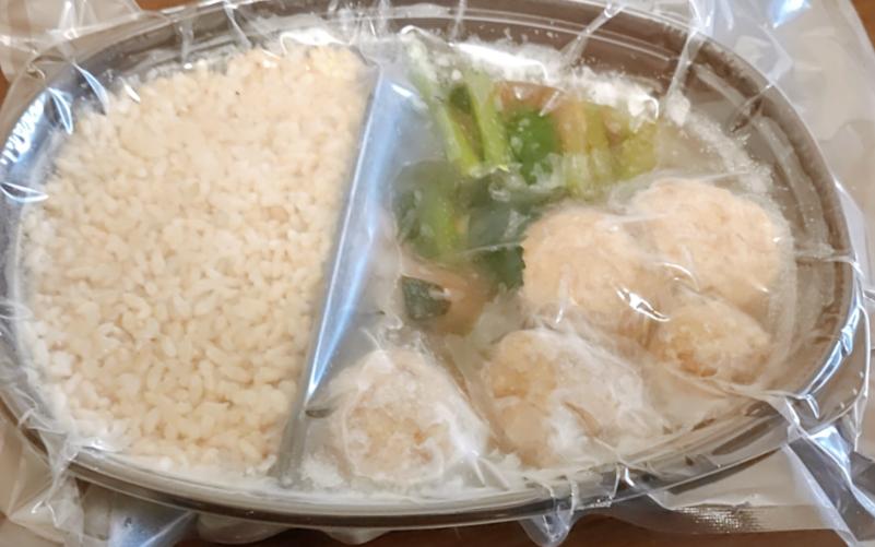 つくねと小松菜のきのこあんかけ