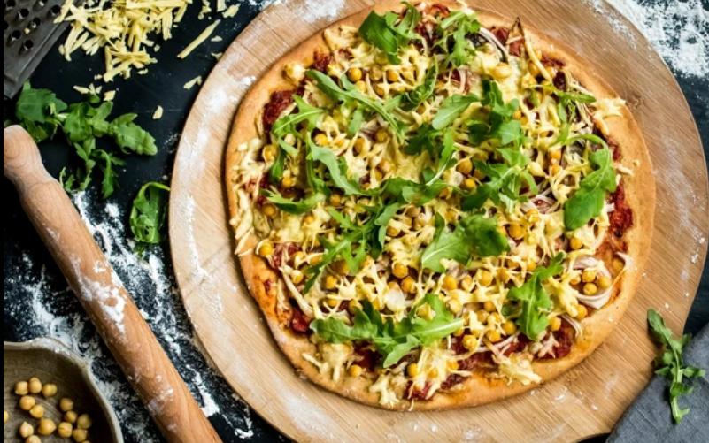 huelを使ったピザ