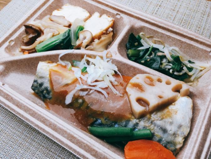セブンミールの鯖の味噌煮弁当