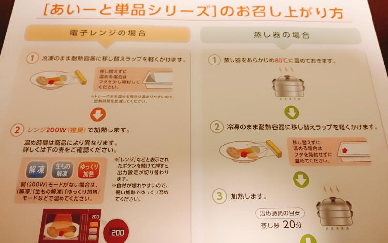 あいーとの介護食の調理方法