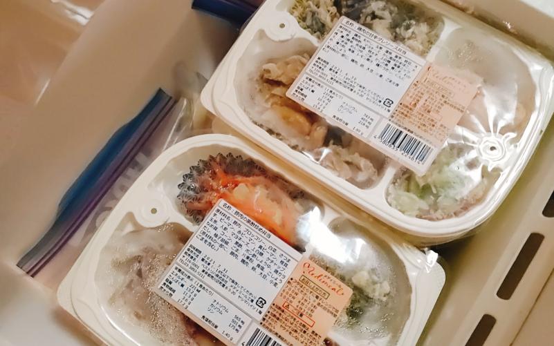 メディミールのお弁当を冷凍庫で保存