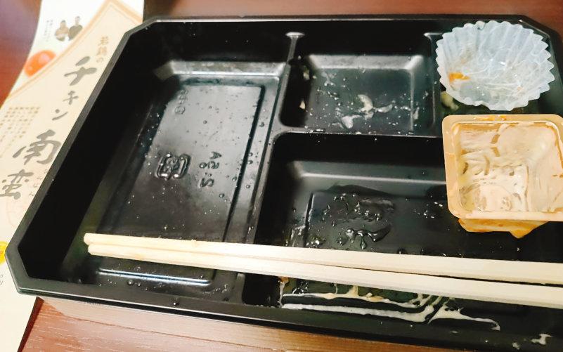塚田農場のお弁当を完食