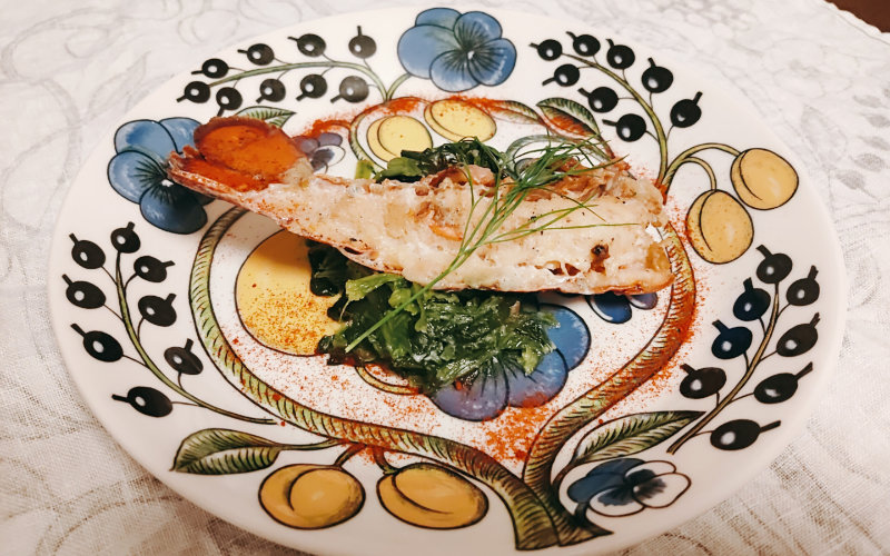 オマール海老のソテー トリュフクリームソース