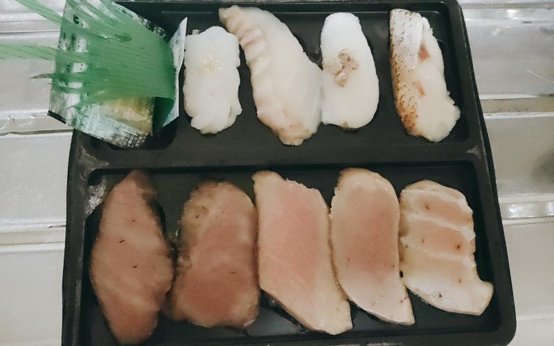 解凍後の冷凍寿司