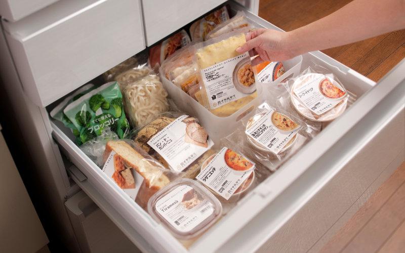 ロイヤルデリの冷凍庫収納イメージ