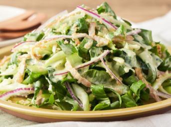 江戸菜とキヌアのシーザーサラダ