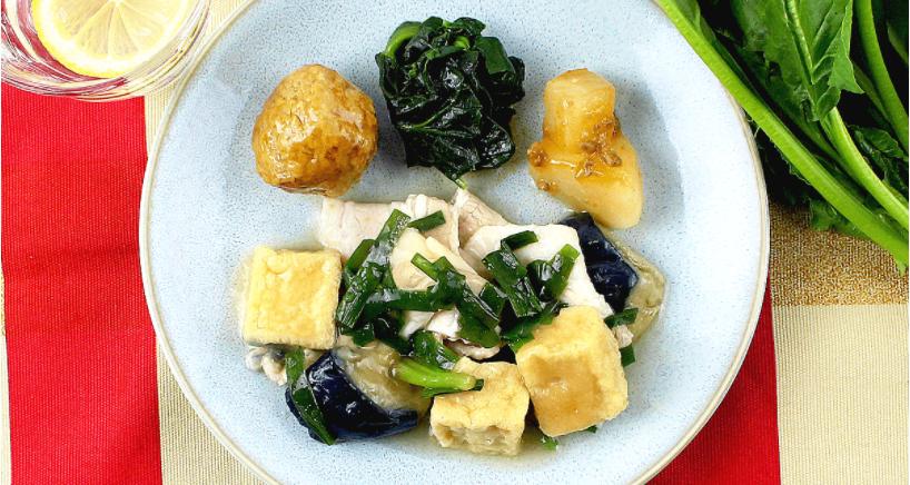 豚肉と絹揚げ豆腐の中華あん