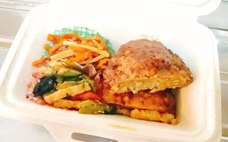 ブイクックデリの大豆ハンバーグ弁当