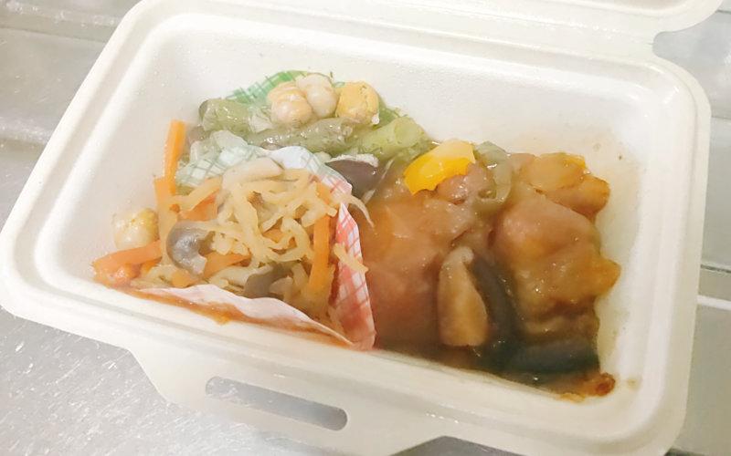 ブイクックデリの黒酢豚弁当