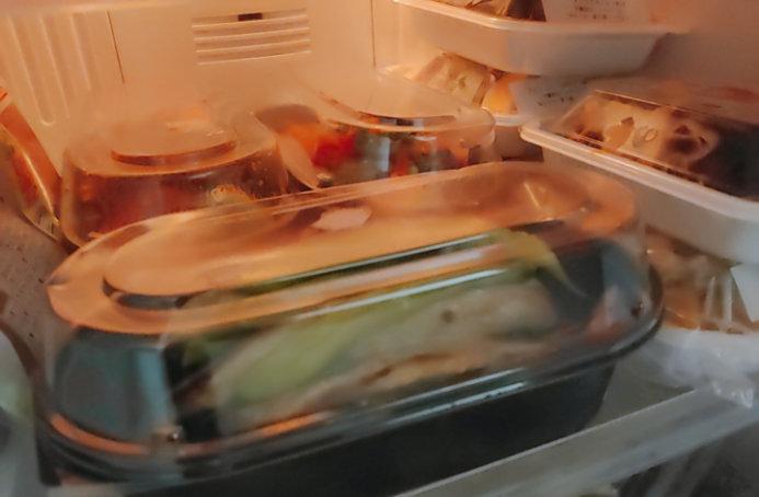 つくりおき.jpの冷凍惣菜を冷蔵庫で保管
